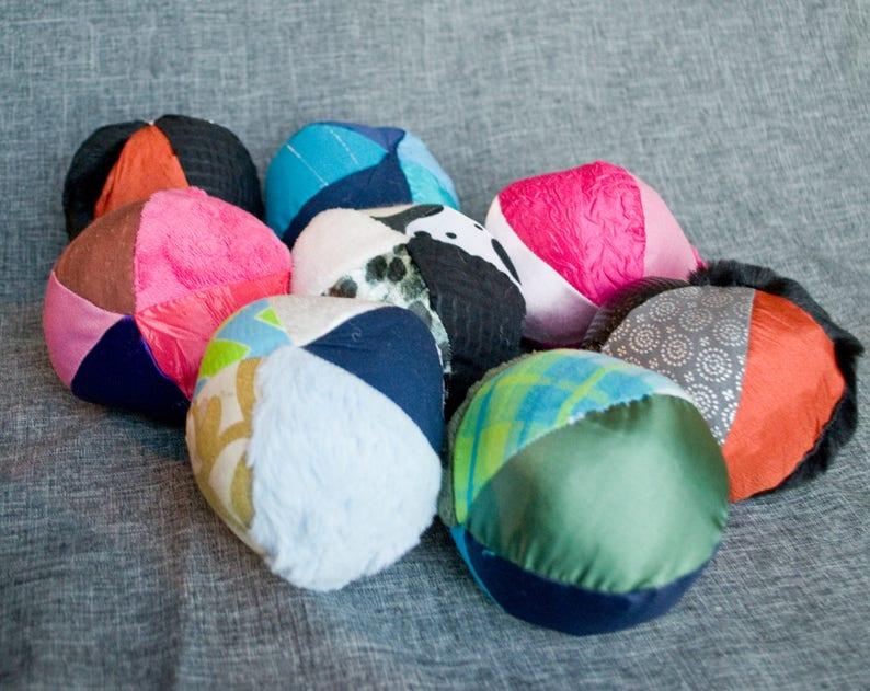 Multicolored Sensory Ball  Small / Sensory Ball with Crinkle image 0