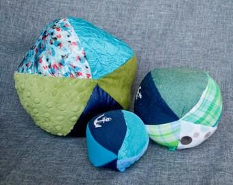 Multicolored Sensory Ball Set / Sensory Ball with Crinkle / Rattle