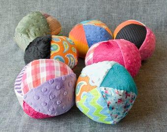 Multicolored Sensory Ball - Medium / Sensory Ball with Crinkle / Rattle