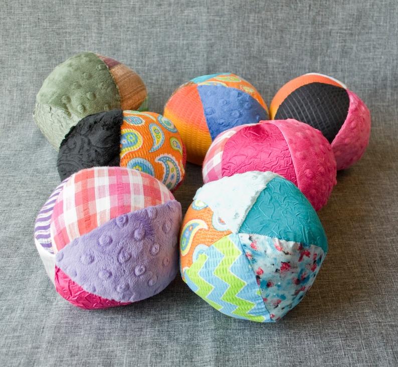 Multicolored Sensory Ball  Medium / Sensory Ball with Crinkle image 0