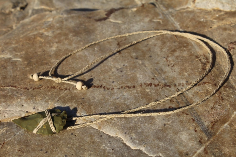Boho Necklace Stone Arrowhead Necklace Men/'s Arrowhead Necklace Tribal Necklace Arrowhead Adjustable Hemp Necklace Gift for Him