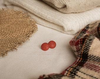 Chai citrouillé - Pair of fleas in rust-colored fabrics