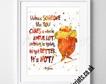 Attractive Dr Seuss   Quotes   Watercolor Poster   Print   Watercolour Print   Wall Art