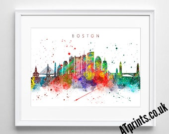Watercolor Poster - Print - Watercolour Print - Wall Art - Canvas - Gift Idea - Framed - Picture