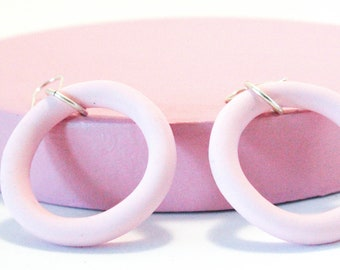 Baby Pink Hoop Earring | Lil Mama