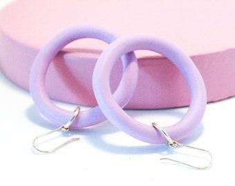 Lilac Hoop Earring | Lil Mama