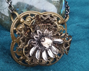 Antique style filigree necklace