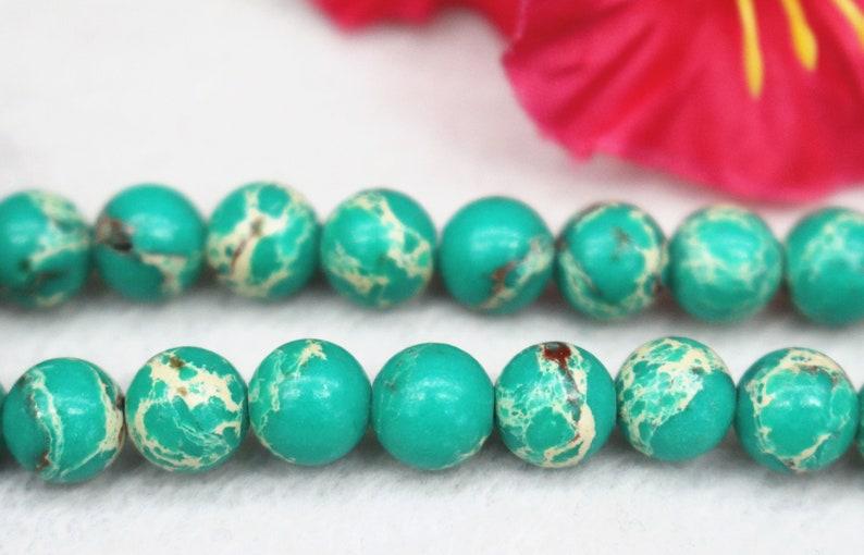 Synthetic Sea Sediment Jasper Beads,6mm 8mm 10mm 12mm Green Sea Sediment Jasper Beads,Gemstone Beads supply,15 strand
