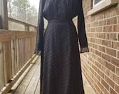 1910s antique black mourning dress