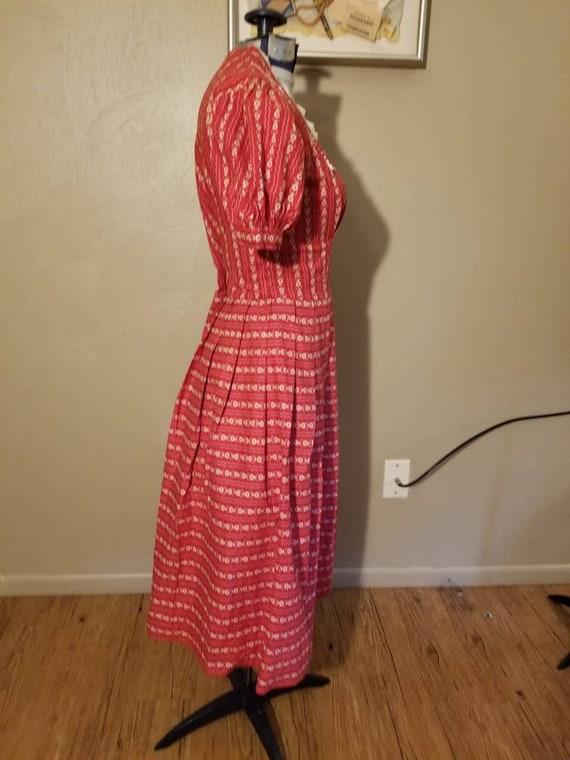 1940s novelty print dress - image 7