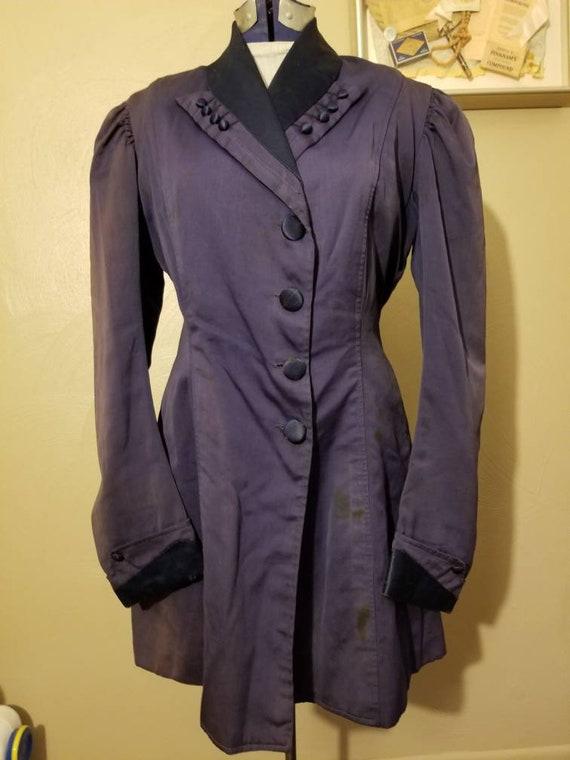 Purple Silk Edwardian Walking Jacket