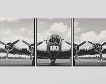 Vintage Airplane Printables, 3 Piece All Art, Antique Plane Art, vintage airplane nursery, Airplane Home Decor, Set of 3 Prints