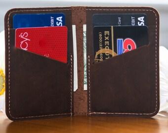 Minimalist  Wallet, Distressed Leather Wallet, Minimalist Classic Billfold, Classic Leather Wallet, Cowhide Billfold Wallet,B