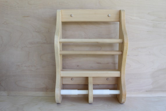 Country Style Wooden Double Toilet Paper Holder And Magazine Rack Double Toilet Paper Holder Magazine Rack