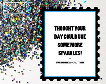 Glitter Bomb Letter Joke Mail - Quarantine Edition: Thought your day could use some more sparkles!