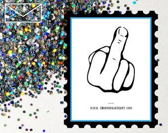 Glitter Bomb Letter Joke Mail: Middle Finger Glitter Bomb Anonymous Prank Message Note Eff You