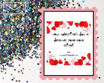 Glitter Bomb Letter Joke Mail: Your Valentine's Day deserves some more shine!