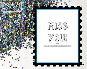 Glitter Bomb Letter Joke Mail - Quarantine Edition: Miss You!