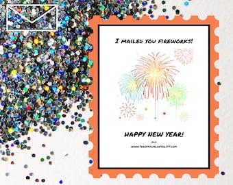 Glitter Bomb Letter Joke Mail: I mailed you fireworks! - New Years