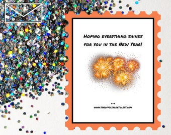 Glitter Bomb Letter Joke Mail: Hoping everything shines for you in the New Year - New Years