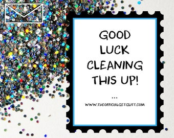 Glitter Bomb Letter Joke Mail: Good Luck Cleaning This Up! Anonymous Prank