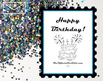 Glitter Bomb Letter Joke Mail: Happy Birthday! Anonymous Prank