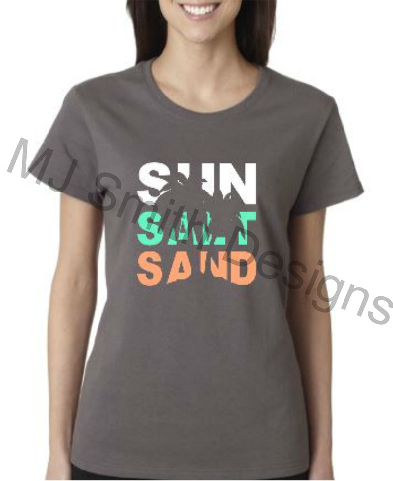 a3b9e43bc Sun Salt Sand Women's T-shirt / Florida / California / | Etsy