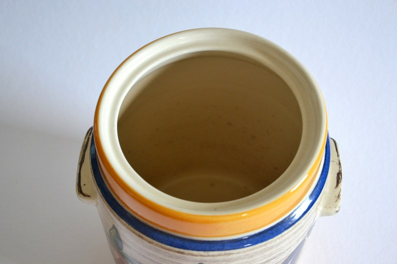 Mid century rum pot punch bowl set  ceramics Jasba  Germany 1960s 1970s  present amateur chef party supply vintage  modern kitchen