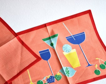 Placemat / napkin / 1960s / tablecloth / tablemat / pop art / space age / atomic age / Germany / vintage / modern kitchen / mid century