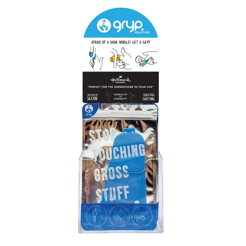 Gryp Germaphobe's Keychain 50 Pack  Retail Stand image 0