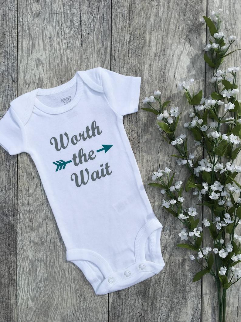 18ddd76a1 Worth the wait baby bodysuit newborn outfit newborn coming