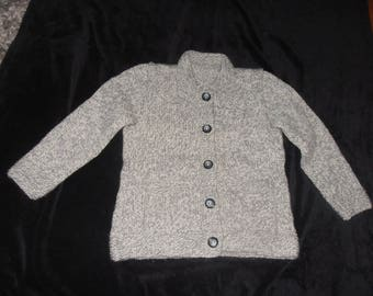 Manually knitted girl jacket