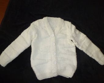 girls Cardigan knitted by hand