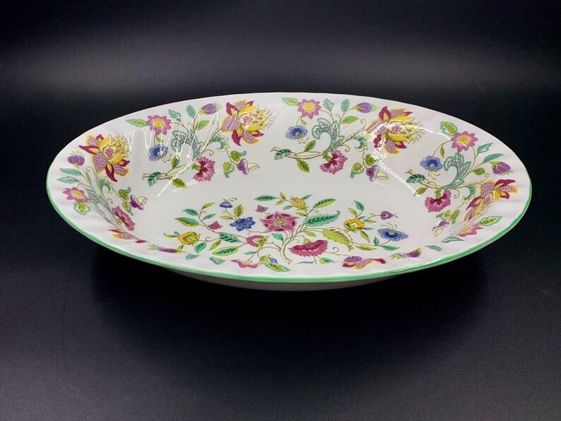 Minton Haddon Hall Oval Vegetable Bowl England Bone China Rare