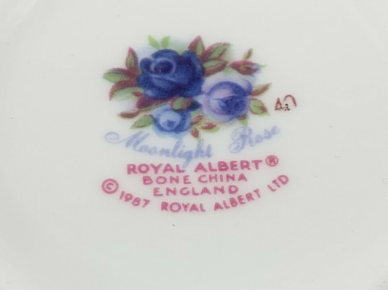 Royal Albert Moonlight Rose Coffee Mugs Set Of 4 Bone China England