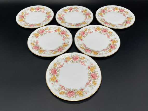 Vintage Colclough Amanda Fine Bone China Tea set and Various plates