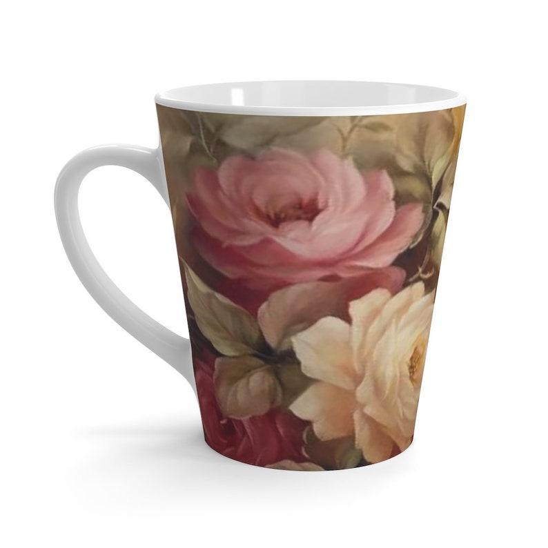 Roses Latte mug