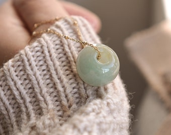 Natural Type A Jadeite Jade Barrel bead pendant - Chain Not Included. DIYJewelry Making & Beading/READY TO SHIP/No.S150