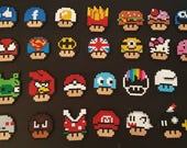 Items Similar To Mario Mushrooms In All Its Forms In Hama