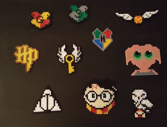 Items Similar To Harry Potter Hama Beads Beads Pixel Art