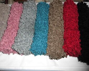 Handmade SNOOD hand made. knit wool Velvet