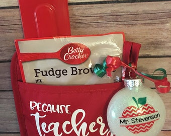 personalized christmas teacher gift set personalized teacher ornament teacher gift set christmas gifts for teachers personalized teacher