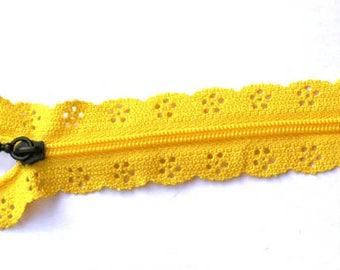 zipper lace yellow 20cm