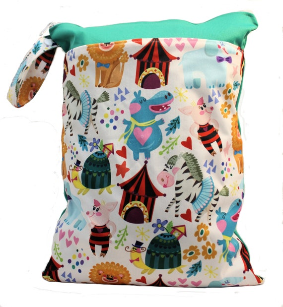 New Large Children Kids Wet Bag for Nappies Swimmers Bathers Swimming waterproof