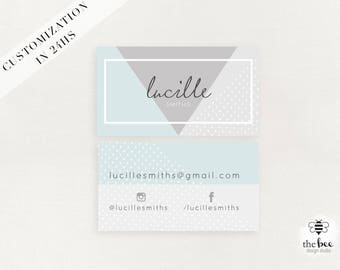 Modern Blogger business Card customized in 24hs