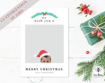 Christmas Card Cutomized in 24hs with your photo