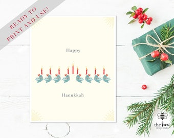 Happy Hanukkah Card Printable
