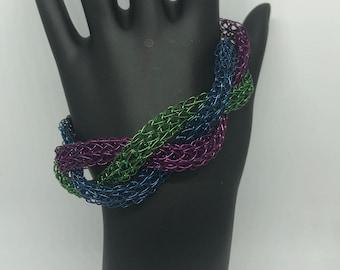 Tri-color Viking Knit Bracelet