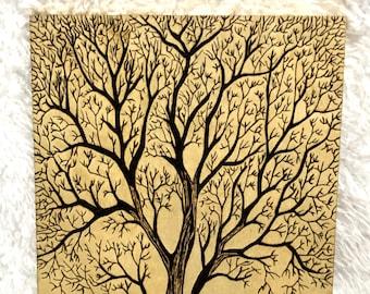 Wood Burned Tree of Life