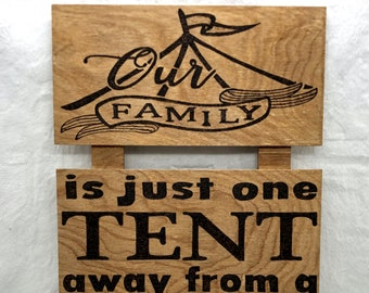 Wood Burned Our Family Circus Sign